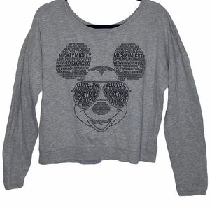 Disney Mickey Mouse print cropped sweater